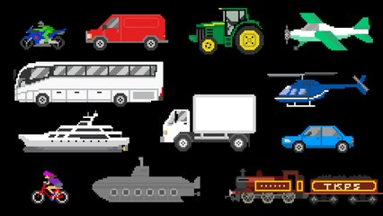 Basic Vehicles - Street Vehicles, Aircraft & Water Vehicles - The Kids' Picture Show