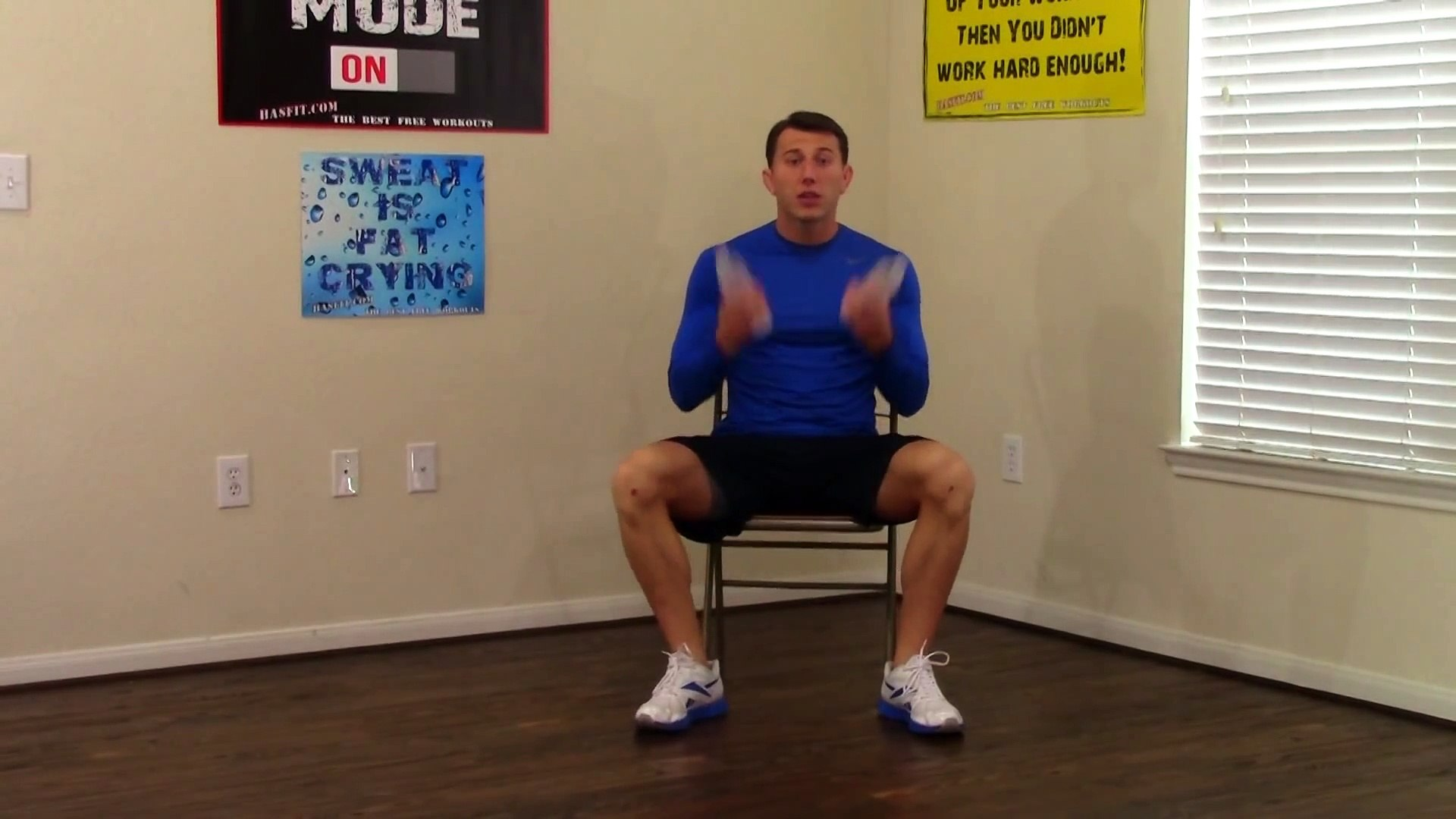 10 Min Chair Workout for Seniors - HASfit Seated Exercise for Seniors -  Chair Exercises for Elderly