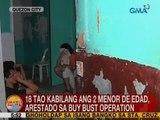 UB: 18 tao kabilang ang 2 menor de edad, arestado sa buy bust operation sa QC