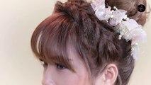 Tufts of hair super beautiful bride wedding season 2017 - Hair tufts youthful high