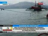 BT: Mga Pilipinong mangingisda. itinaboy at binangga raw ng Chinese coast guard sa Panatag Shoal