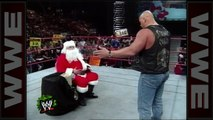 'Stone Cold' drops Santa Claus with a Stunner - Raw, Dec.