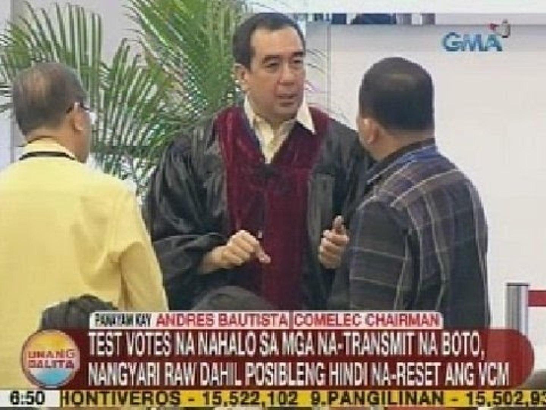 UB: Panayam kay Chairman Bautista kaugnay ng pagbaba ng bilang ng mga boto sa transparency server