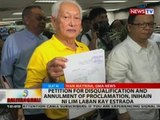 Petition for disqualification and annulment of proclamation, inihain ni Lim laban kay Estrada