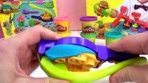 Menu pailleté Play Doh avec le jeu Scoops n Treats et Burger Builder – Un menu Play Doh