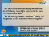 UB: SM Supermalls, nakikiramay sa mga namatayan sa concert sa Pasay