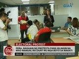 24 Oras: Peña, naghain ng protesta para hilingin na mag-manual recount ng mga boto sa Makati