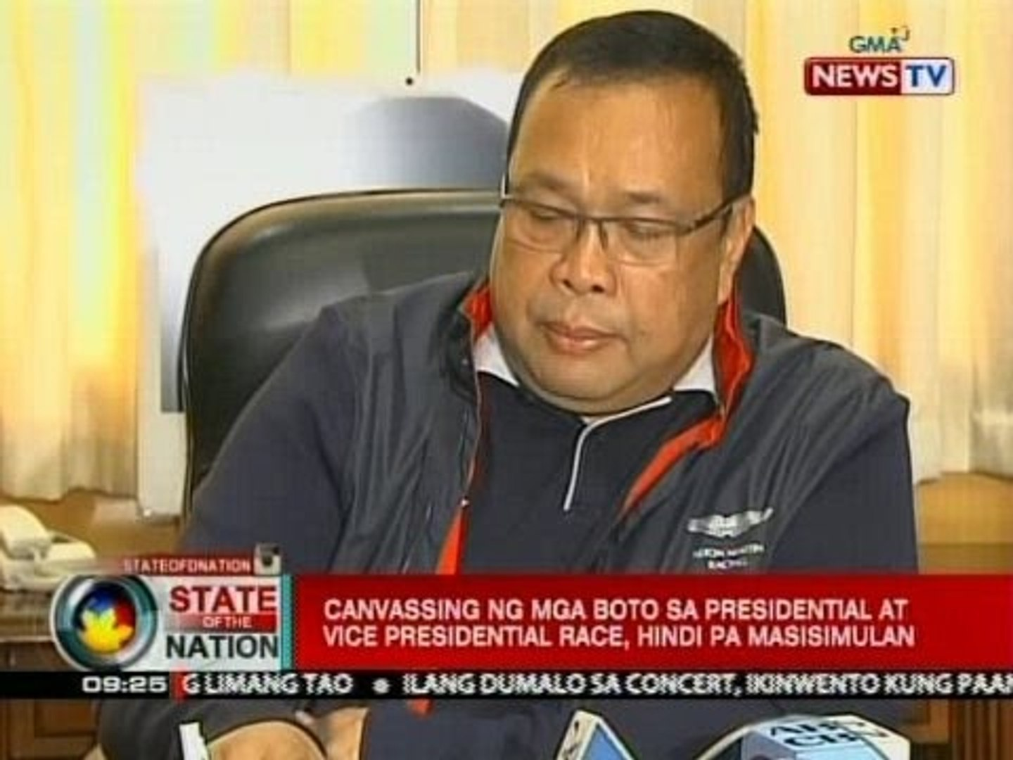 SONA: Canvassing ng mga boto sa presidential at vice presidential race, hindi pa masisimulan