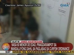 UB Nasa 60 menor de edad pinagdarampot sa Mandaluyong dahil