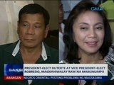 Saksi: President-elect Duterte at Vice President-elect Robredo, magkahiwalay raw na manunumpa
