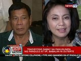 President-elect Rodrigo Duterte at Vice President-elect Leni Robredo, magkahiwalay na manunumpa