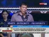 Duterte, muling nagbabala laban sa mga aniya'y tiwalang ahensya ng gobyerno