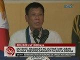 24 Oras: Duterte, nagbigay ng ultimatum laban sa mga presong sangkot pa rin sa droga
