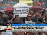 BT: Daan-daan nakiramay sa libing ng drug lord na si alyas 'Jaguar'