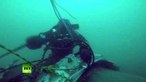 Images sous-marines des débris de Tu-154 qui s'est écrasé en mer Noire (VIDEO)