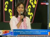 NTG: VP Leni Robredo, itinalaga ni Pres. Duterte bilang HUDCC chairman