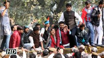 NSUI protests against JNU students suspension