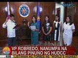UB: VP Leni Robredo, nanumpa na bilang pinuno ng HUDCC