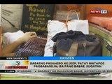 BT: Babaeng pasahero ng jeep, patay matapos pagbabarilin