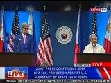 NTVL: Joint press conference nina DFA Sec. Perfecto Yasay at US Secretary of State John Kerry
