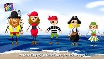 Finger Family Rhymes   Pirates Finger Family   Daddy Finger Family Nursery Rhymes - Cartoon Rhymes