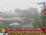 UB: Zero casualty at zero evacuee sa Aparri, Cagayan sa kabila ng pananalasa ng bagyo
