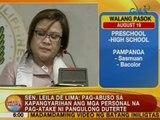 UB: Sen. De Lima: Pag-abuso sa kapangyarihan ang mga personal na pag-atake ni Pres. Duterte
