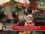SONA: Grupong kontra sa paghihimlay kay Marcos sa Libingan ng mga Bayani, nakagirian ng mga pulis