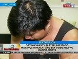 Dating varsity player, arestado matapos ipakalat ang sex video nila ng dating nobya