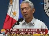 UB: Pilipinas, hindi kakalas sa UN, ayon kay DFA Sec. Yasay