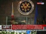 Mga petisyon laban sa paghihimlay kay dating Pangulong Marcos sa LNMB, hinimay sa oral arguments