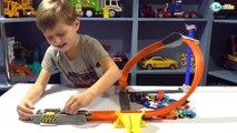 Hot Wheels Cars Toys. Video for children. Testing Hot Wheels Cars. New Track for Cars