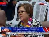 NTVL: Press conference ni Sen. Leila de Lima