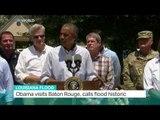 Louisiana Flood: Obama visits Baton Rouge, Kilmeny Duchardt reports