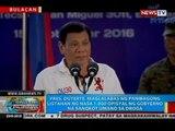 Pres. Duterte, maglalabas ng panibagong listahan ng mga sangkot umano sa droga