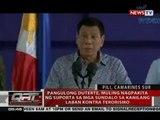 Pang. Duterte, muling nagpakita ng suporta sa mga sundalo sa kanilang laban kontra terorismo