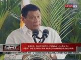QRT: Pres. Duterte, pinayuhan si Sen. de Lima na magpahinga muna