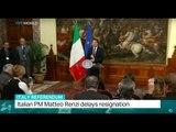Italy Referendum: Italian PM Matteo Renzi delays resignation