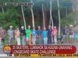 UB: 25 skaters, lumahok sa kauna-unahang Longboard Skate Challenge sa Surigao City