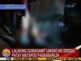 UB: Lalaking gumagamit umano ng droga, patay matapos pagbabarilin sa Taguig