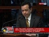 SONA: Trillanes, handang i-turnover sa PNP si Matobato oras na makuha nila ang warrant of arrest