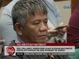 24 Oras: Sen. Trillanes, handa raw isuko si Matobato kapag natanggap na ang warrant of arrest