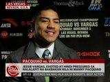 Jessie Vargas, excited at hindi pressured sa nalalapit na  bakbakan nila ni Manny Pacquiao
