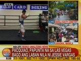 UB: Sen. Manny Pacquiao, papunta na sa Las Vegas bago ang laban nila ni Jessie Vargas
