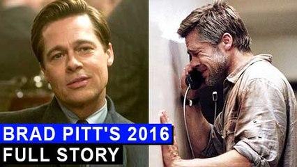Brad Pitt's 2016 REVIEW  Full Year Story  Brangelina DIVORCE  Allied