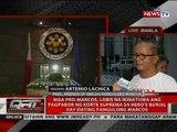 Mga Pro-Marcos, labis na ikinatuwa ang pagpabor ng SC sa hero's burial kay dating Pangulong Marcos
