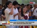 BT: Mga anak ni Pacquiao, tinutukan din ang laban ng kanilang ama
