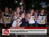 24 Oras: Mga tutol sa paghihimlay kay dating Pang. Marcos sa LNMB, nagdaos ng fun run