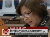 24 Oras: Patong-patong na reklamo laban kay De Lima, inirekomenda ng NBI sa DOJ