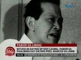 Biyuda ni dating VP Doy Laurel, pabor sa paglibing kay dating Pres. Marcos sa LNMB